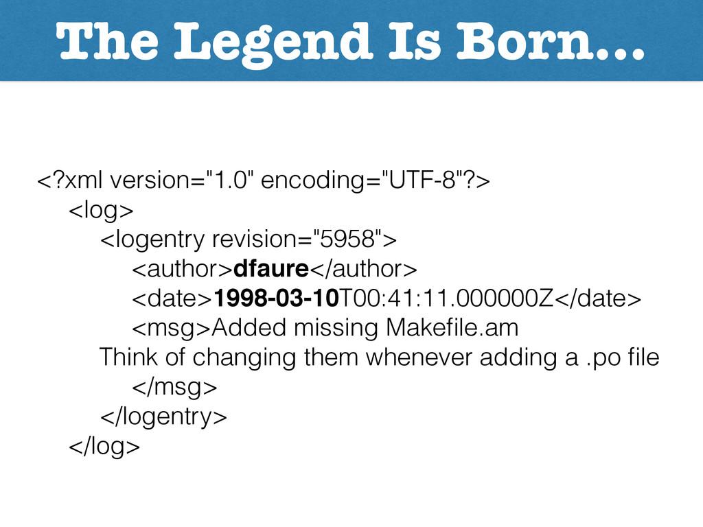 """The Legend Is Born… <?xml version=""""1.0"""" encodin..."""