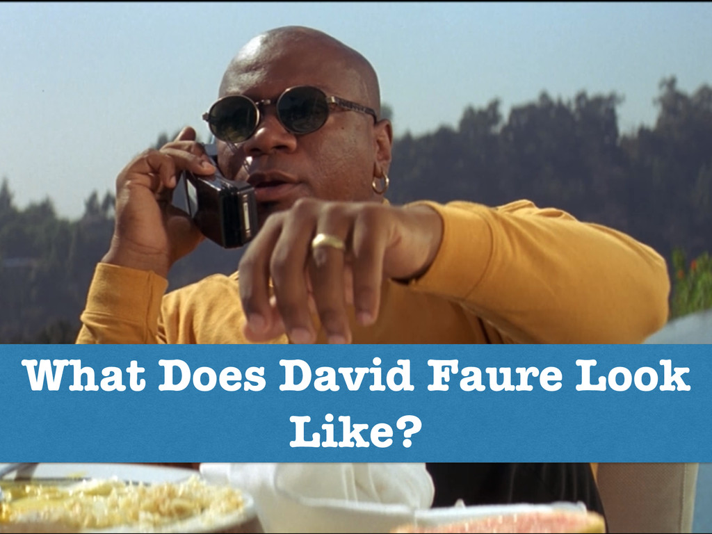 What Does David Faure Look Like?