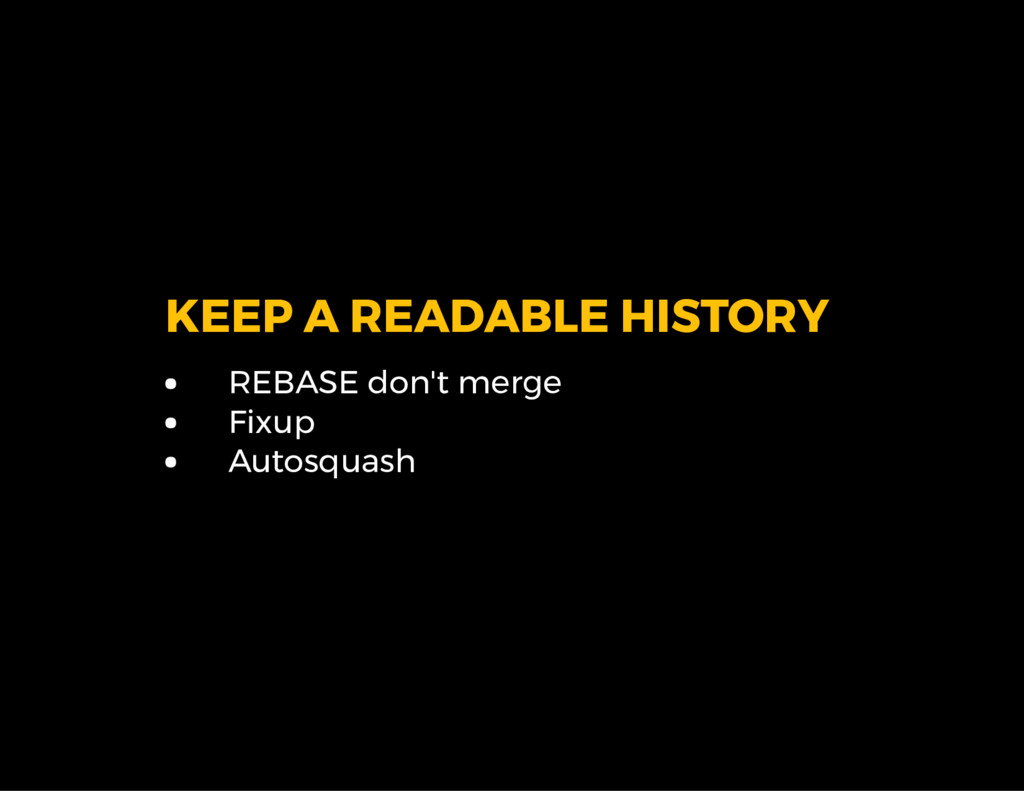 KEEP A READABLE HISTORY REBASE don't merge Fixu...