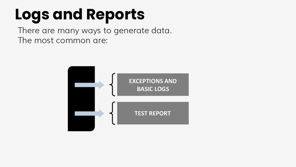 Logs and Reports There are many ways to generat...