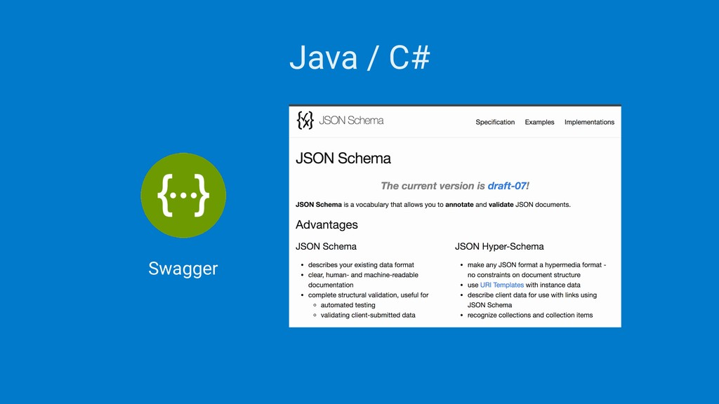 Java / C# Swagger