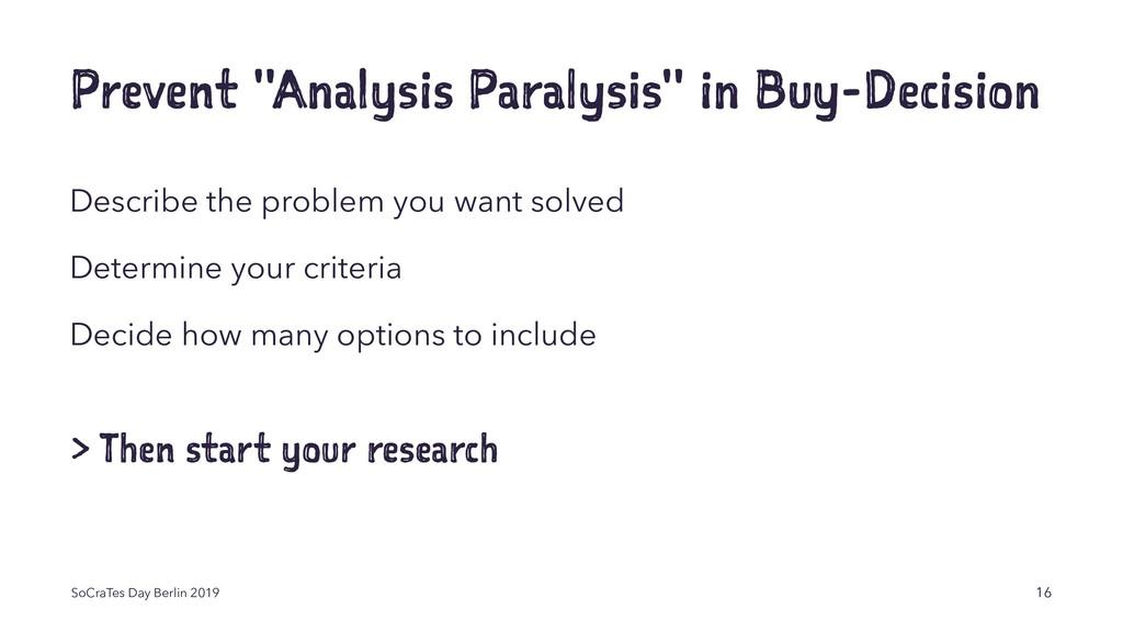 "Prevent ""Analysis Paralysis"" in Buy-Decision De..."