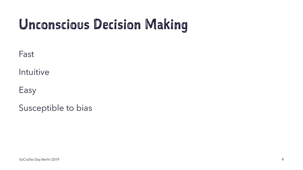 Unconscious Decision Making Fast Intuitive Easy...