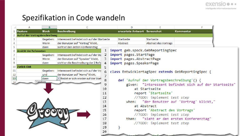 17 Spezifikation in Code wandeln