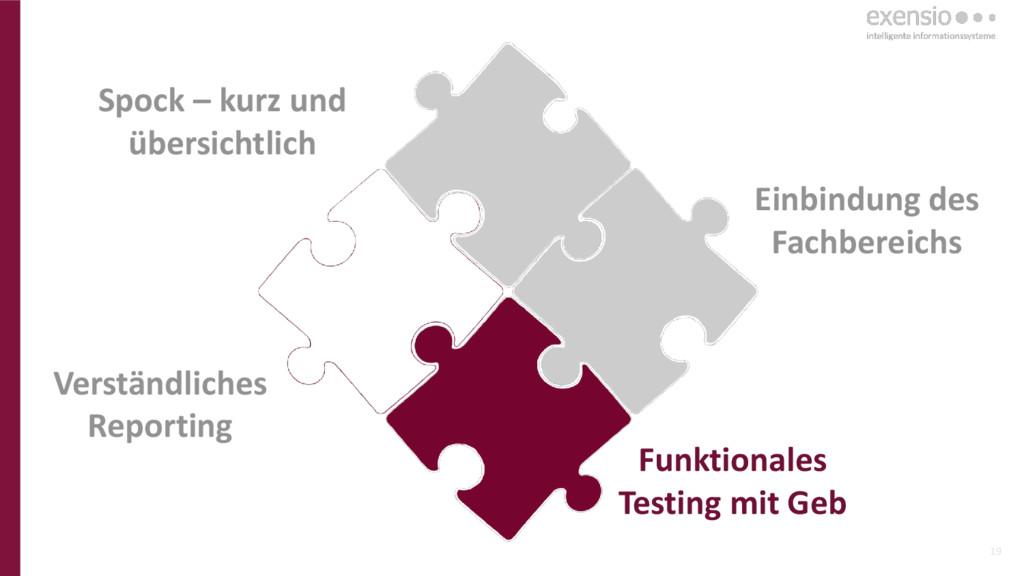 19 Funktionales Testing mit Geb Einbindung des ...