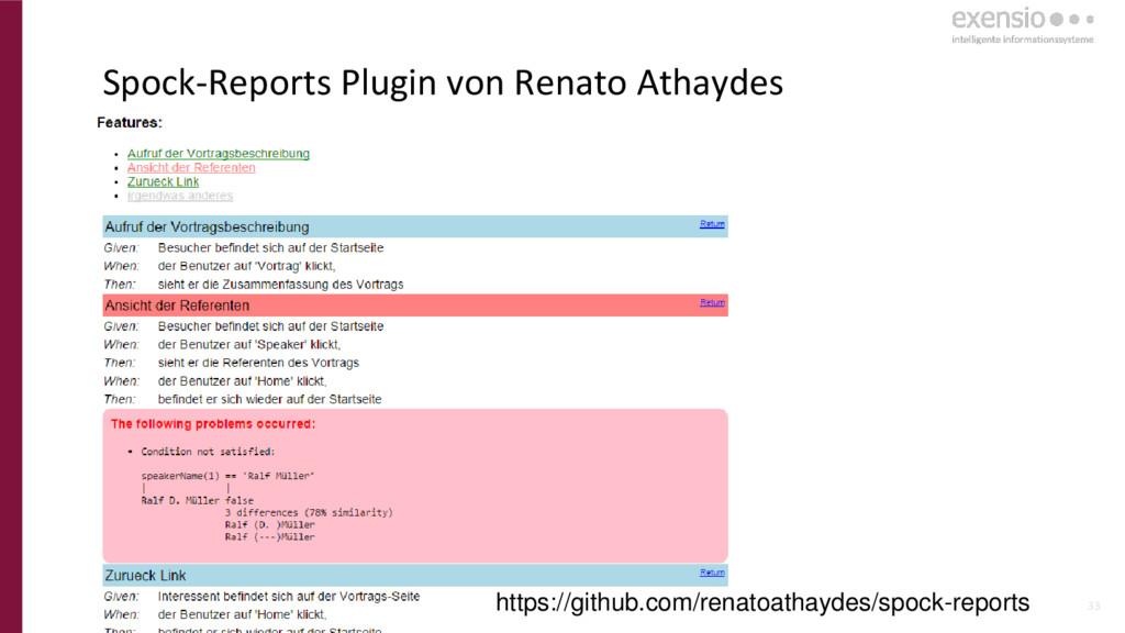33 Spock-Reports Plugin von Renato Athaydes htt...
