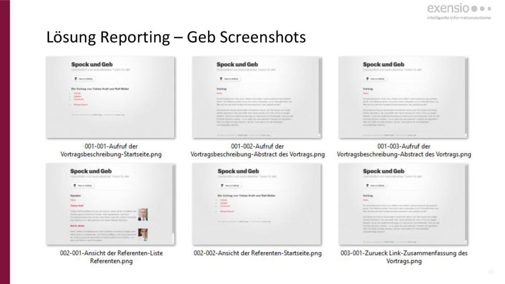 35 Lösung Reporting – Geb Screenshots