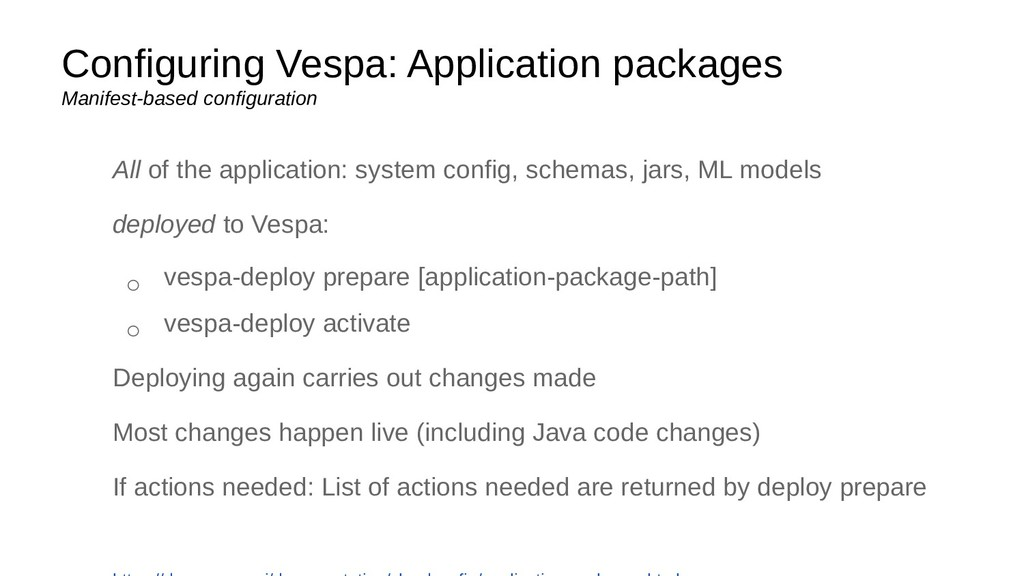 Configuring Vespa: Application packages Manifes...
