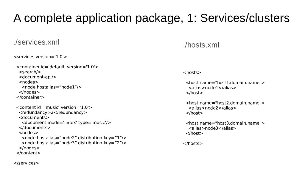 A complete application package, 1: Services/clu...
