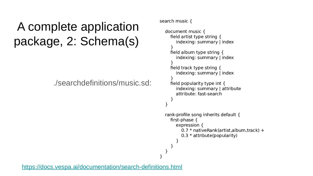 A complete application package, 2: Schema(s) ./...