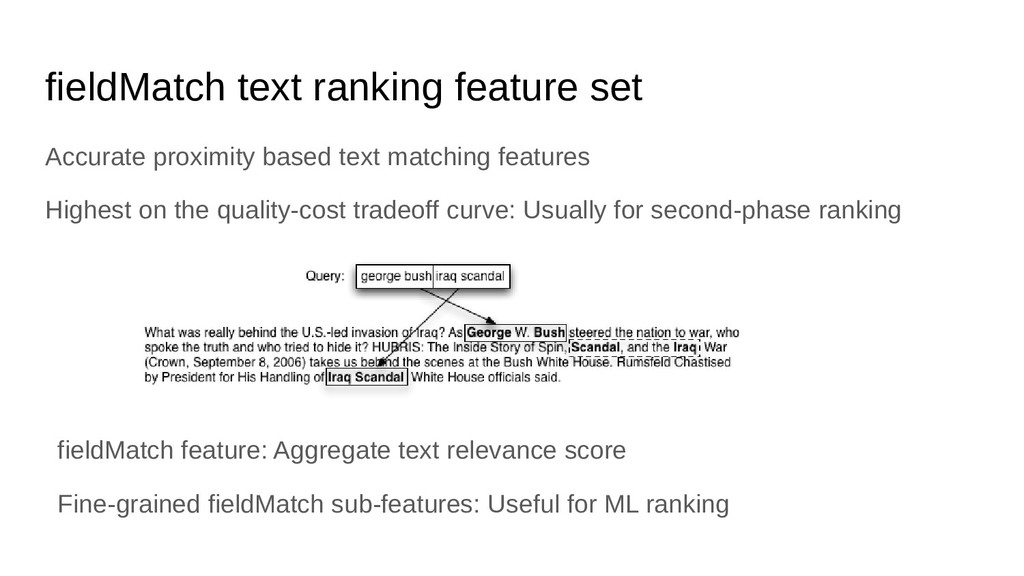 fieldMatch text ranking feature set Accurate pr...