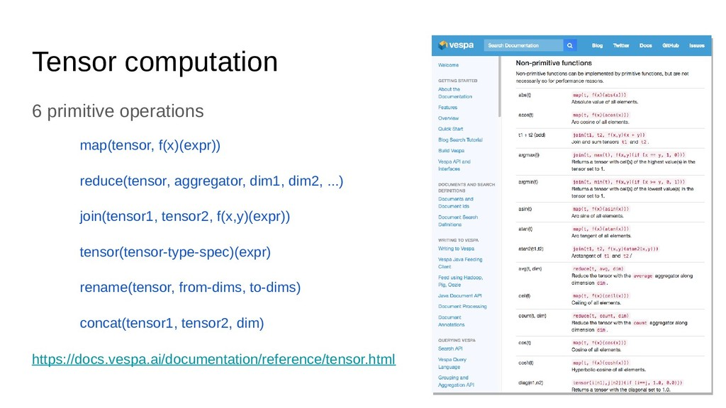 Tensor computation 6 primitive operations map(t...