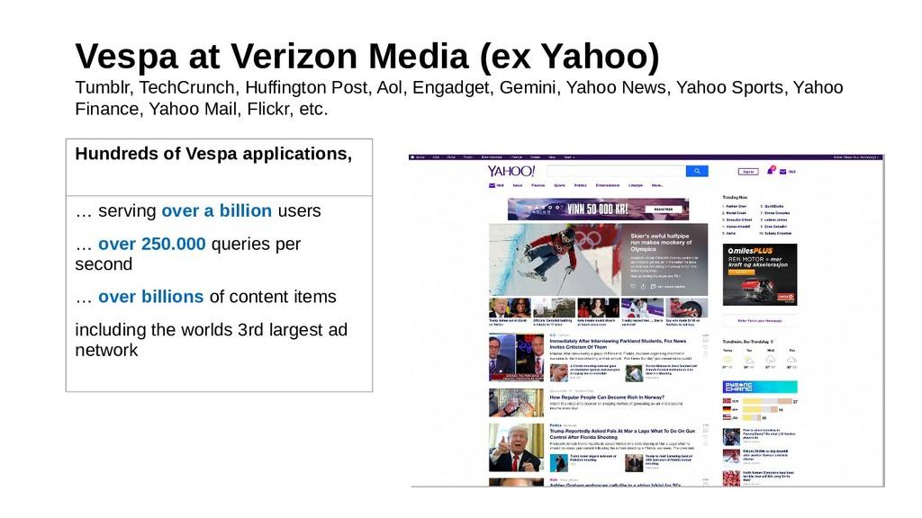Vespa at Verizon Media (ex Yahoo) Tumblr, TechC...