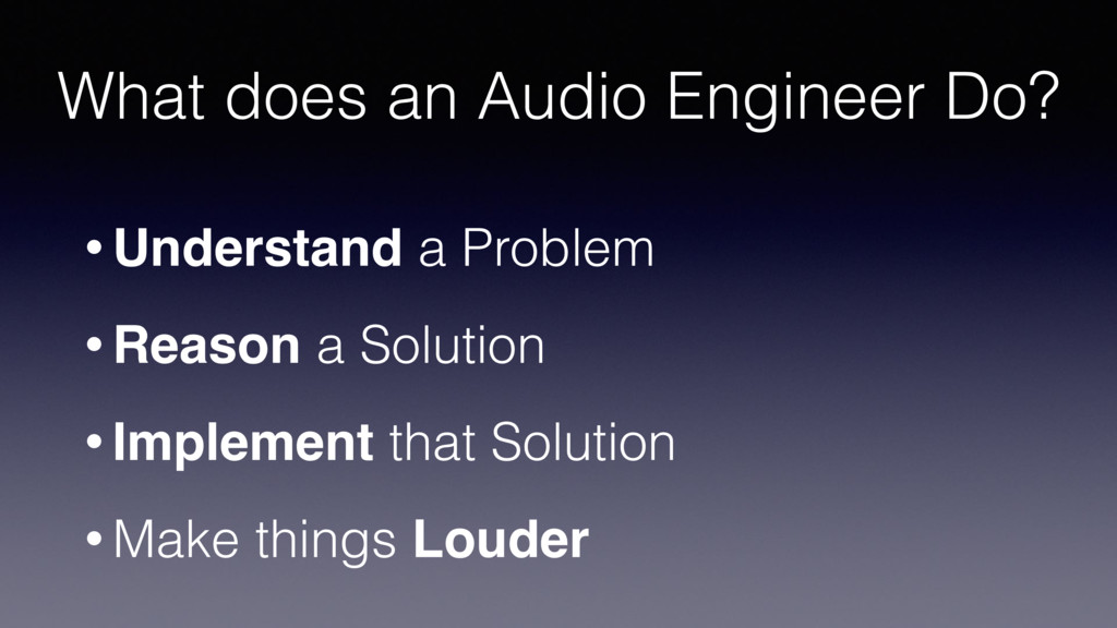 What does an Audio Engineer Do? • Understand a ...