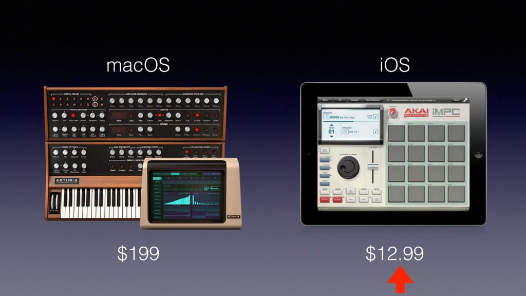 $12.99 $199 macOS iOS