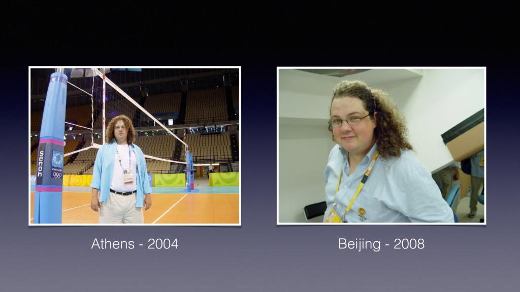 Athens - 2004 Beijing - 2008