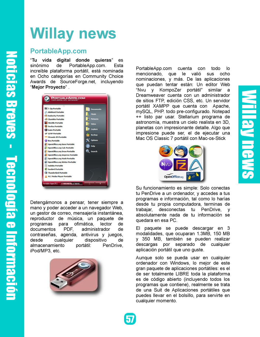 "Willay news PortableApp.com ""Tu vida digital do..."