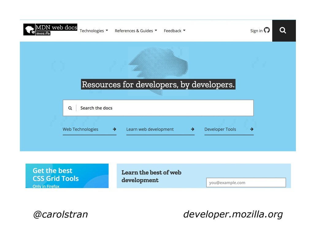 @carolstran developer.mozilla.org