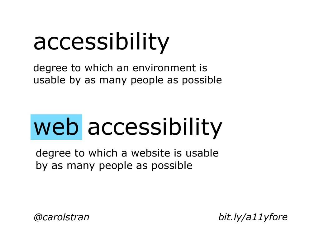 @carolstran accessibility web accessibility deg...