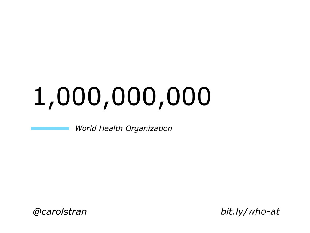 @carolstran 1,000,000,000 World Health Organiza...
