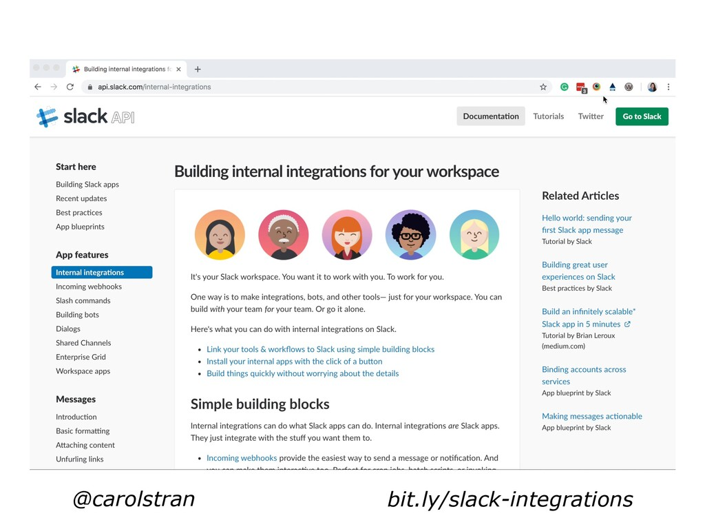 @carolstran bit.ly/slack-integrations