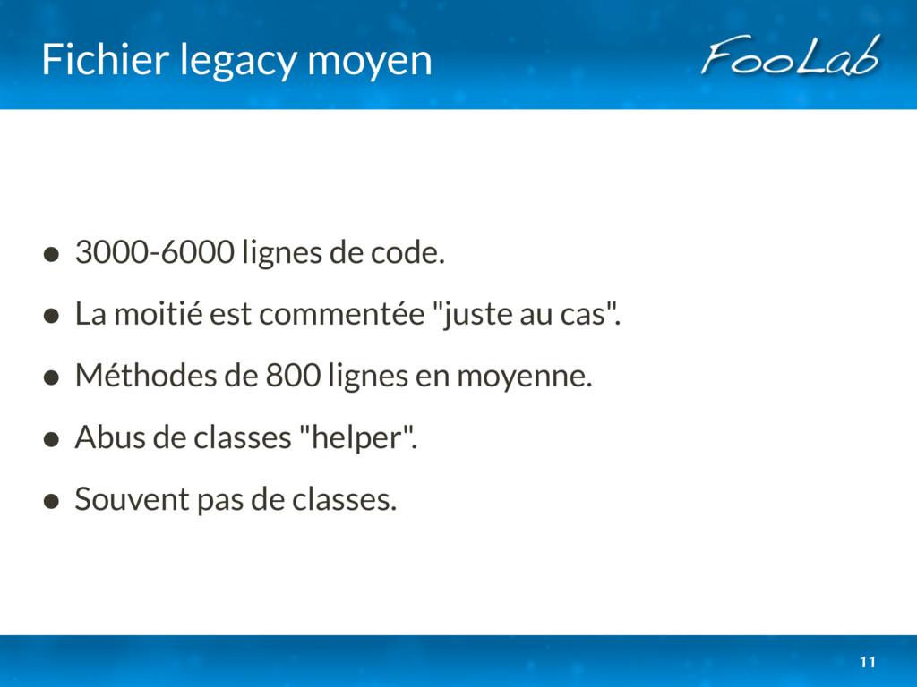 Fichier legacy moyen • 3000-6000 lignes de code...