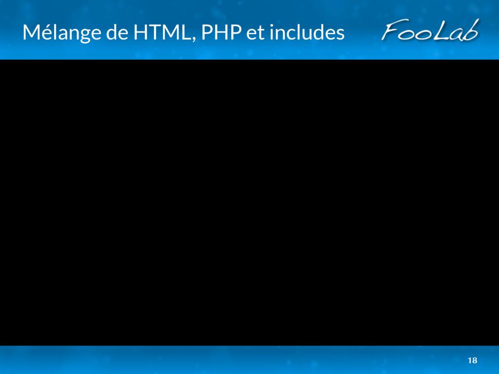 Mélange de HTML, PHP et includes 18