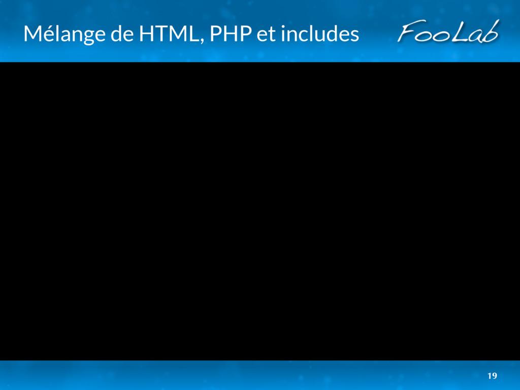 Mélange de HTML, PHP et includes 19