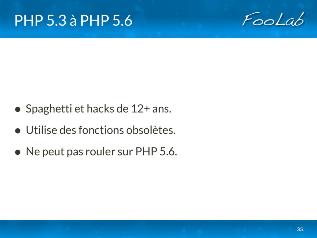 PHP 5.3 à PHP 5.6 • Spaghetti et hacks de 12+ a...