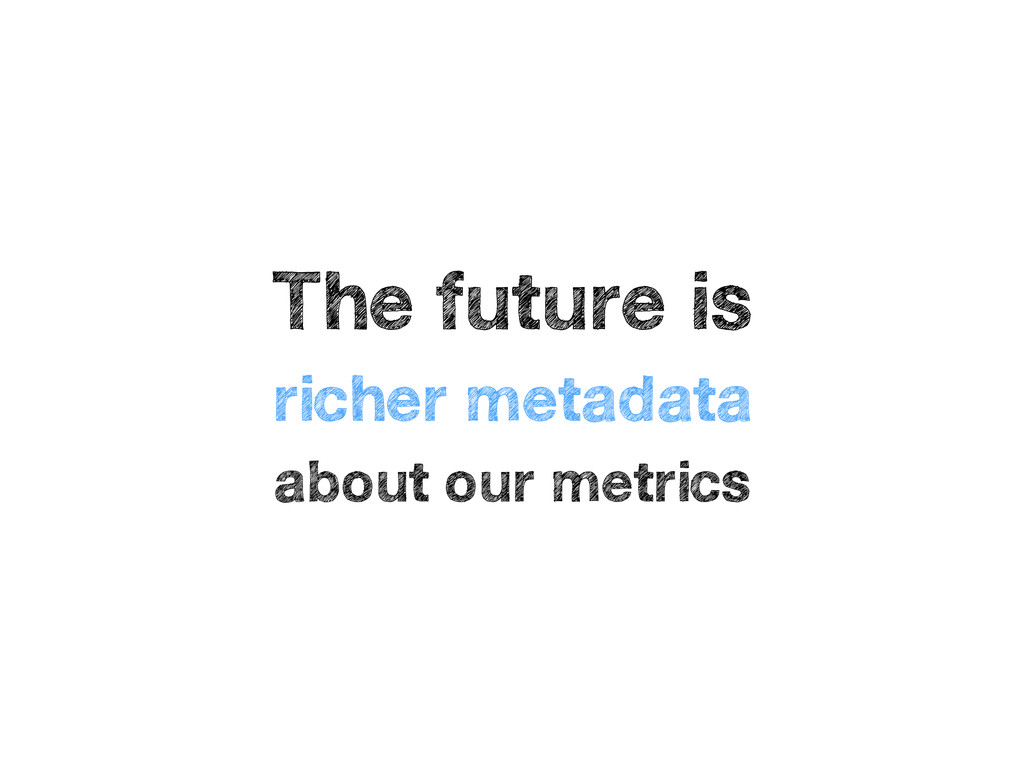The future is richer metadata about our metrics