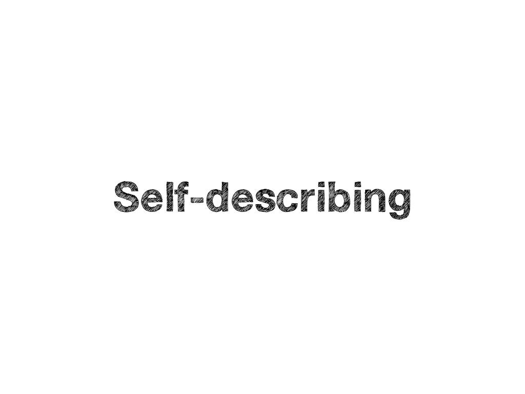 Self-describing