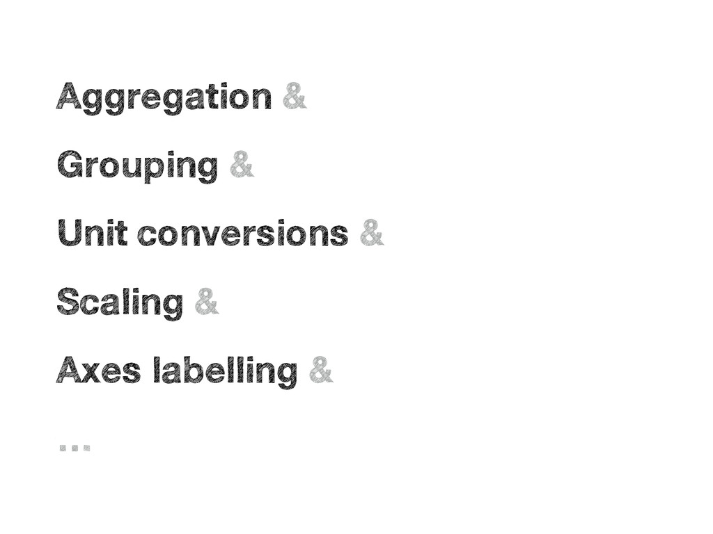 • Aggregation & • Grouping & • Unit conversions...
