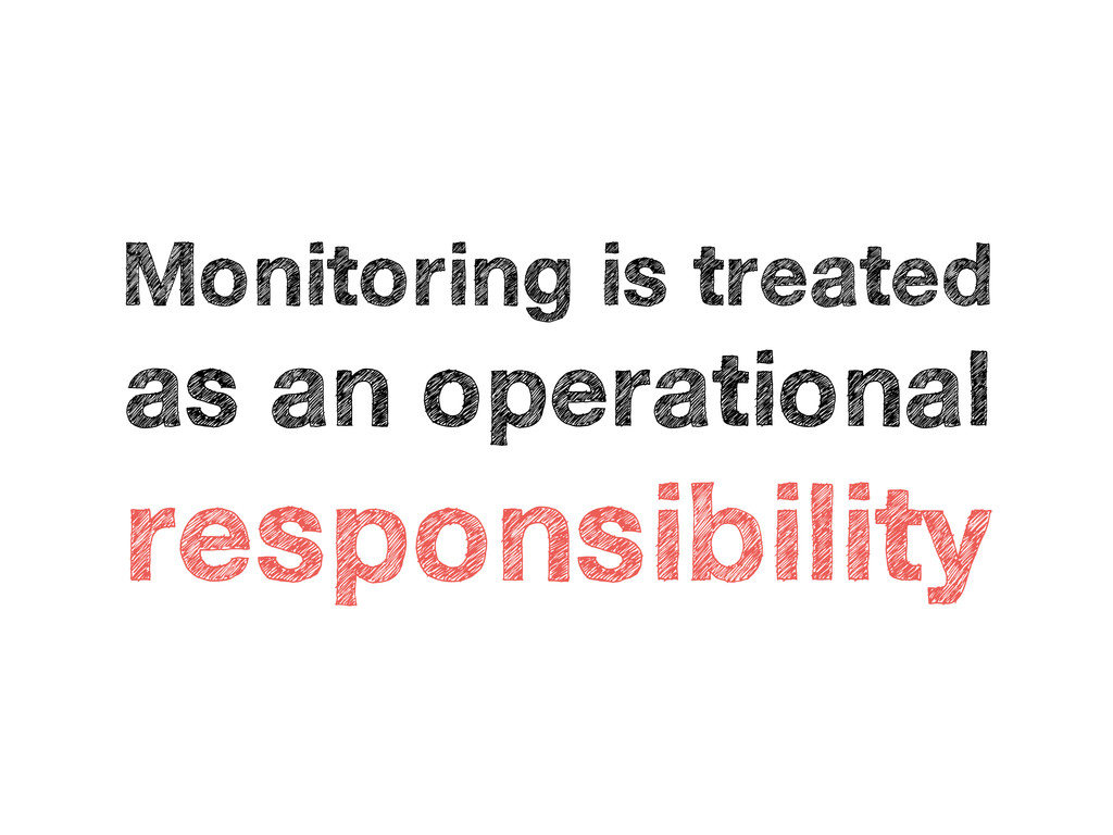 Monitoring is treated as an operational respons...