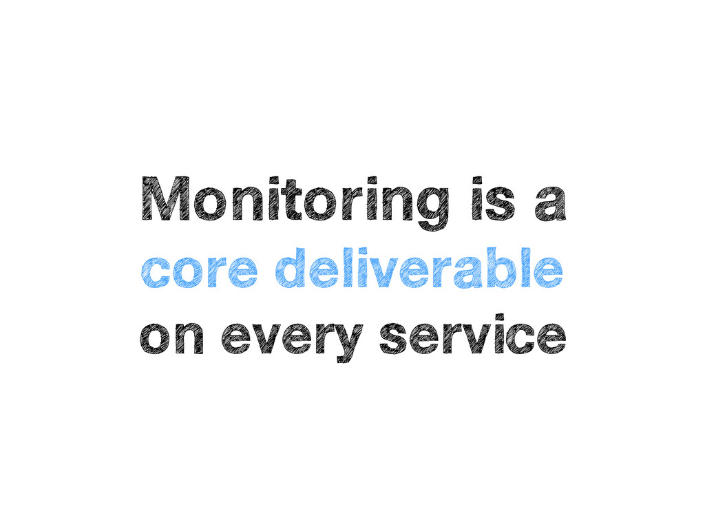 Monitoring is a core deliverable on every servi...