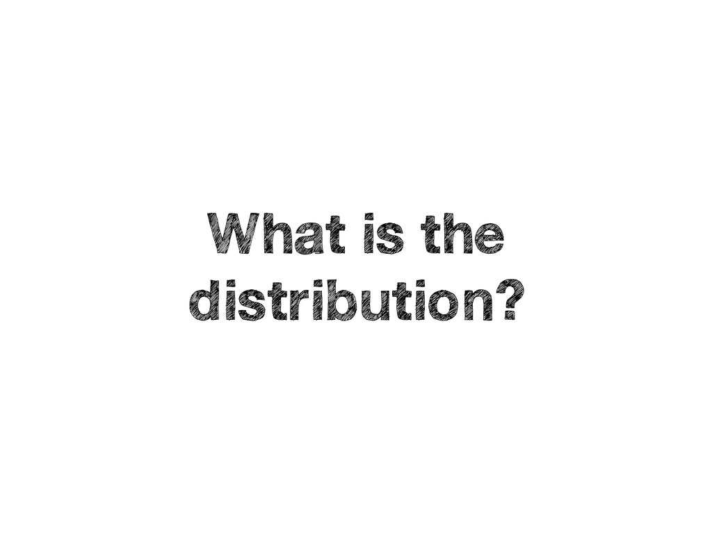 What is the distribution?