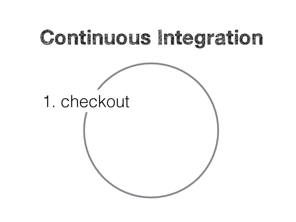 1. checkout Continuous Integration