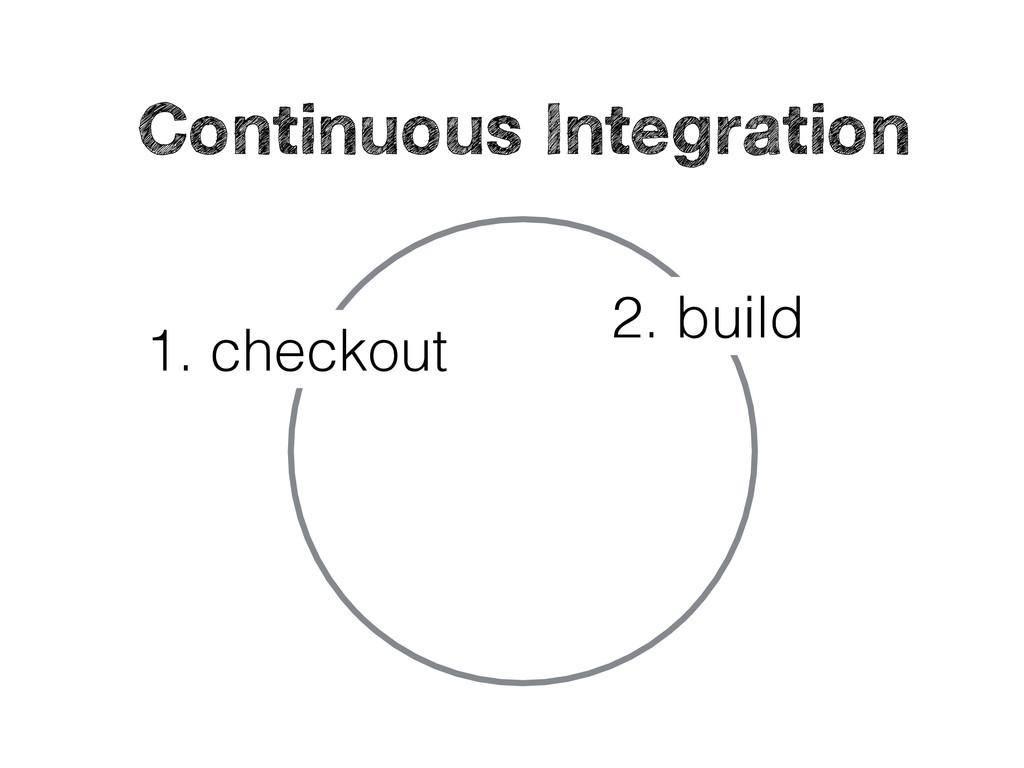 1. checkout 2. build Continuous Integration