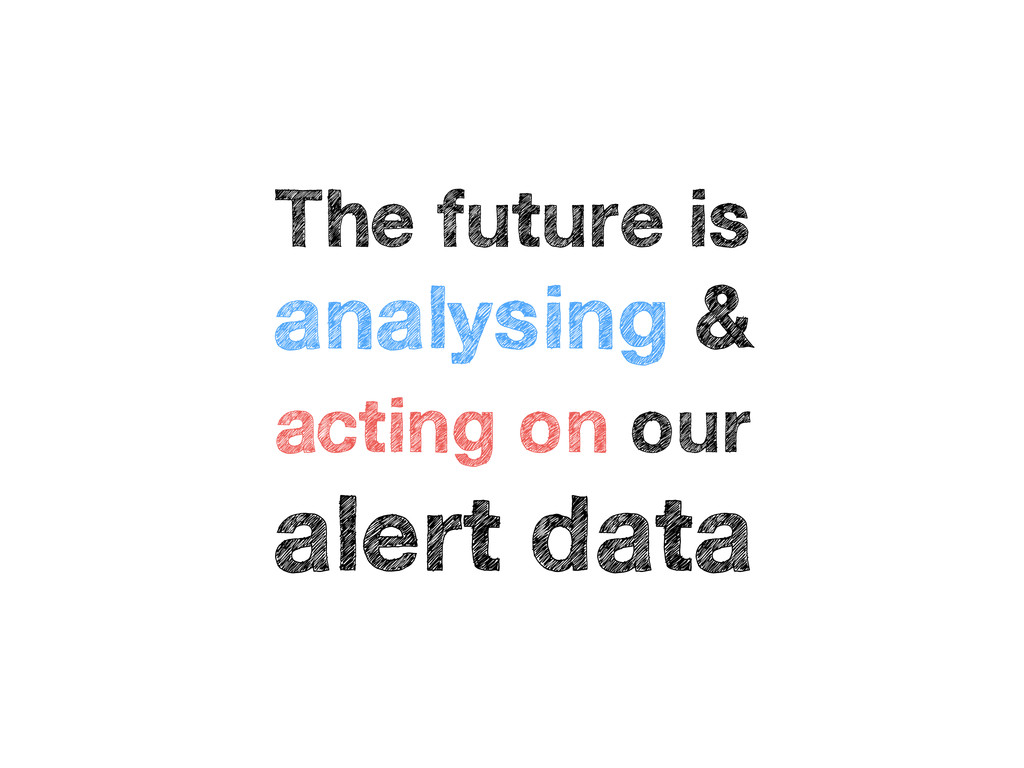 The future is analysing & acting on our alert d...