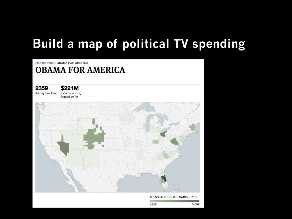 Build a map of political TV spending