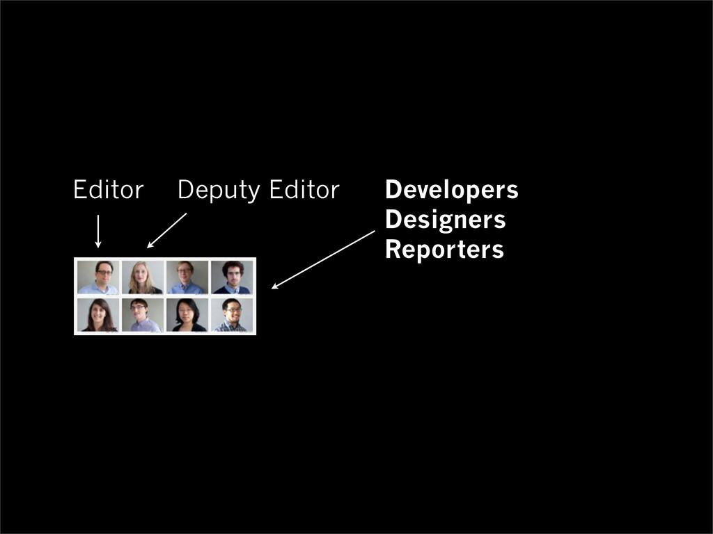 Editor Deputy Editor Developers Designers Repor...