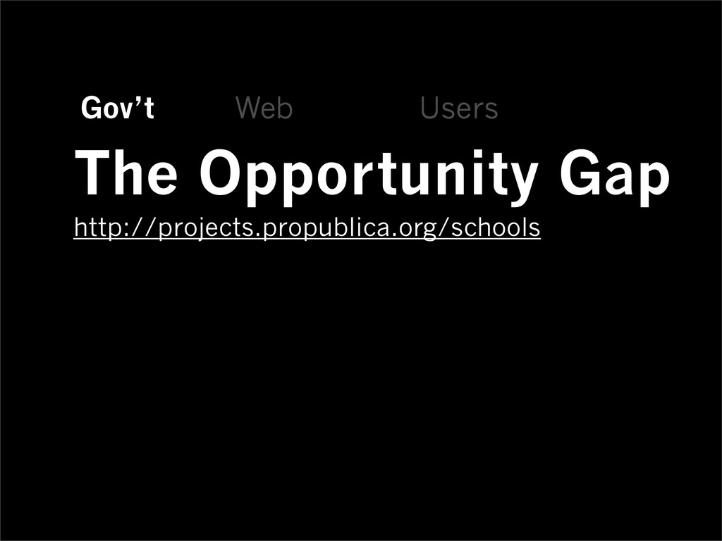 Gov't Web Users The Opportunity Gap http://proj...