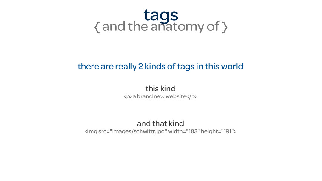 tags { and the anatomy of } there are really 2 ...