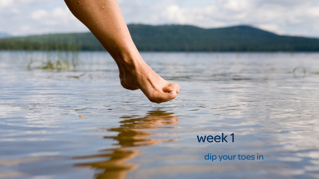 week 1 dip your toes in