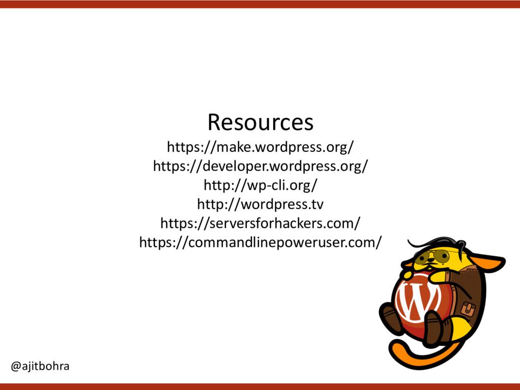 Resources https://make.wordpress.org/ https://d...