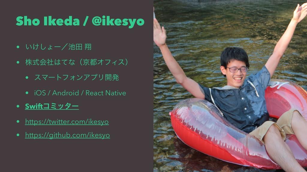 Sho Ikeda / @ikesyo • ͍͚͠ΐʔʗా ᠳ • גࣜձࣾͯͳʢژΦϑ...