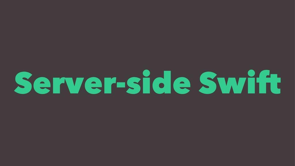 Server-side Swift