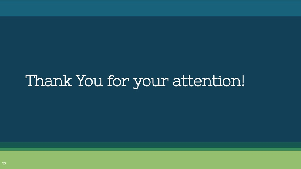 Thank You for your attention! 35