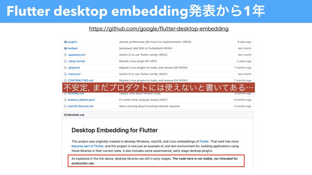 Flutter desktop embeddingൃද͔Β1೥ IUUQTHJUIVC...