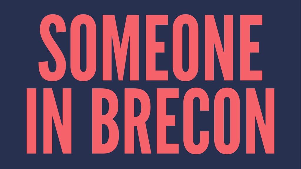 SOMEONE IN BRECON