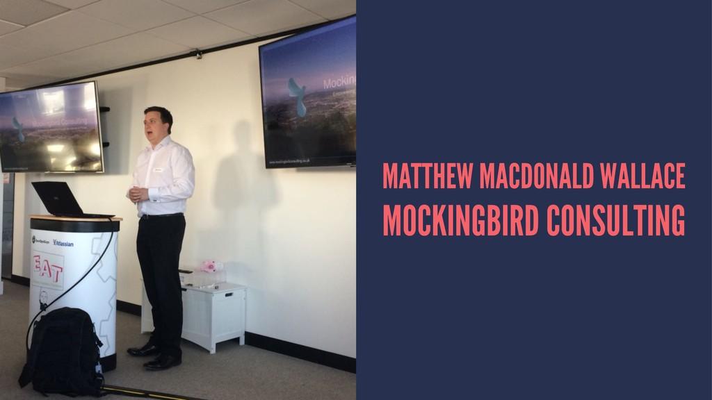 MATTHEW MACDONALD WALLACE MOCKINGBIRD CONSULTING
